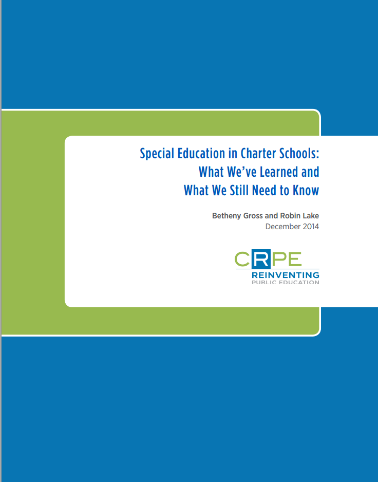 What Have We Learned About Special >> Ncsrc National Charter School Resource Center