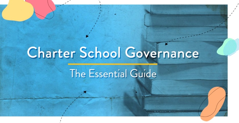 A stack of books with the publication title: Charter School Governance, the Essential Guide