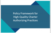 Cover page of policy framework for high-quality charter authorizing practices