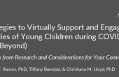 "Cover page to ""Strategies to Virtually Support and Engage Families"" report"