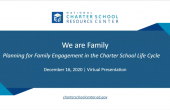 Presentation Title Image We are Family: Planning for Family Engagement in the Charter School Life Cycle