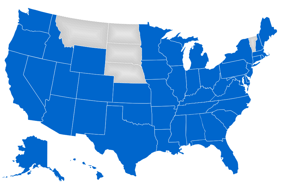 State connections map